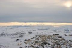 Montanha Snow-covered foto de stock royalty free