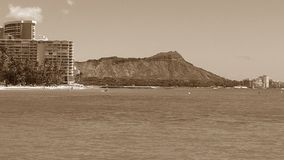 Montanha sobre o oceano Fotografia de Stock Royalty Free