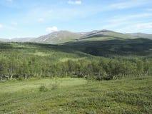A montanha sueco drottningleden, o queenstrail sweden Imagem de Stock