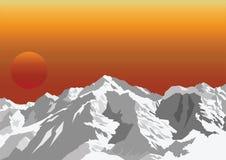 Montanha tampada neve ilustração do vetor