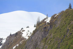 Montanha tampada neve Imagens de Stock Royalty Free