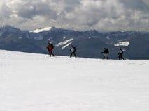 Montanha Trekkers imagens de stock