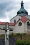 Montanha verde, República Checa - Vysocina Foto de Stock