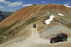 Montanha vermelha Jeeping Foto de Stock Royalty Free