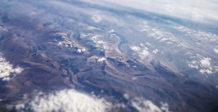Montanhas aéreas Imagem de Stock