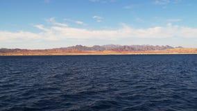 Montanhas abandonadas de Sinai pelo mar video estoque