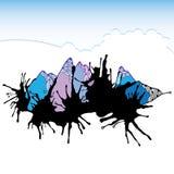 Montanhas abstratas para seu projeto Imagens de Stock