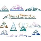 Montanhas ajustadas Curso, caminhando o tema Fotografia de Stock Royalty Free
