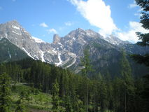 Montanhas alpinas Imagens de Stock Royalty Free
