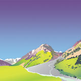 montanhas altas alpinas Imagens de Stock Royalty Free
