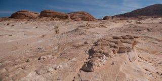 Montanhas antigas do deserto de Sinai Fotografia de Stock Royalty Free