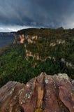 Montanhas azuis, Austrália imagem de stock