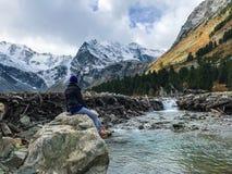 Montanhas bonitas de Altai Em setembro de 2018 fotos de stock