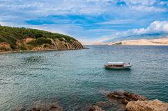 Montanhas bonitas do mar de croatia Imagem de Stock Royalty Free