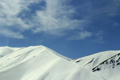 Montanhas brancas Fotos de Stock Royalty Free