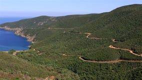 Montanhas cênicos e baía do Mar Egeu video estoque