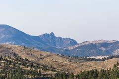 Montanhas cênicos em Montana fotografia de stock