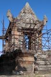 Montanhas Camboja de Dangrek, Gopura V a porta cambojana da entrada ao templo do século XI de Preah Vihear foto de stock royalty free
