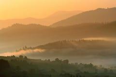 Montanhas Carpathian Foto de Stock Royalty Free