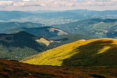 Montanhas Carpathian no verão Foto de Stock Royalty Free