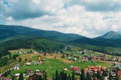 Montanhas Carpathian no verão Imagem de Stock