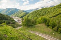 Montanhas caucasianos Fotos de Stock Royalty Free