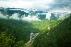Montanhas caucasianos Fotografia de Stock Royalty Free