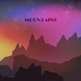 Montanhas coloridas abstratas Fotos de Stock