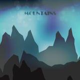 Montanhas coloridas abstratas Imagens de Stock Royalty Free