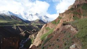 Montanhas coloridas Anyon do ¡ de Ð Pamir Fotografia de Stock