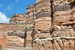 Montanhas coloridas de Quebrada de las Conchas, Argentina Fotos de Stock Royalty Free