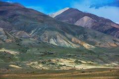 Montanhas coloridas diferentes fotografia de stock royalty free