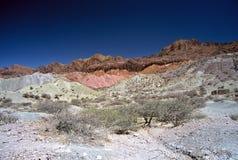 Montanhas coloridas, Salta, Argentina imagem de stock