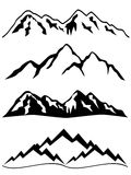 Montanhas com neve Foto de Stock Royalty Free
