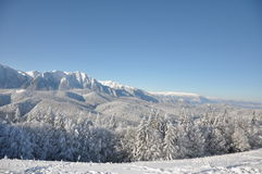 Montanhas com neve Imagem de Stock Royalty Free