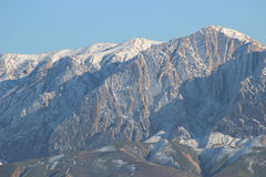 Montanhas da areia fotografia de stock
