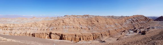 Montanhas da Cordilheira del Sal no vale da lua, deserto de Atacama, o Chile foto de stock