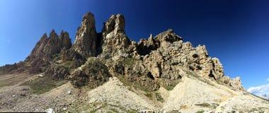 Montanhas da dolomite/rochas de escalada Fotografia de Stock Royalty Free