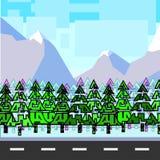 Montanhas da floresta Ilustração Stock