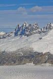 Montanhas da geleira de Mendenhall Imagem de Stock