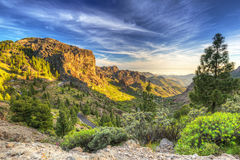 Montanhas da ilha de Gran Canaria imagens de stock royalty free