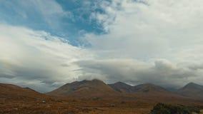 Montanhas da montanha em Escócia - tempo-lapso video estoque