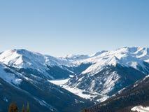 Montanhas da neve foto de stock royalty free