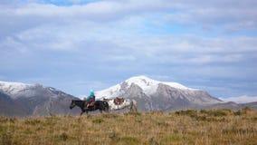 Montanhas da neve Foto de Stock