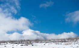 Montanhas da neve no parque nacional de Kosciuszko, Austrália Fotografia de Stock
