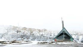 Montanhas da neve no parque nacional de Kosciuszko, Austrália Fotos de Stock Royalty Free