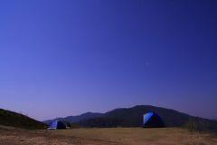 Montanhas da noite Fotografia de Stock Royalty Free