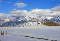 Montanhas da parte dianteira de Wasatch, Utá Fotografia de Stock Royalty Free