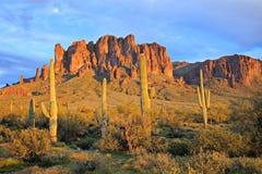 Montanhas da superstição Fotografia de Stock Royalty Free