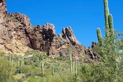 Montanhas da superstição do Arizona imagens de stock